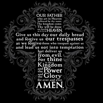 Oração do Pai Nosso em Inglês