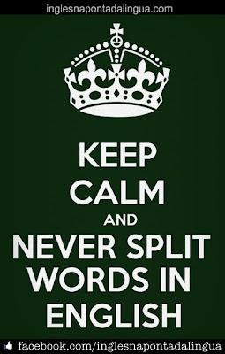 Separar Palavras em Inglês