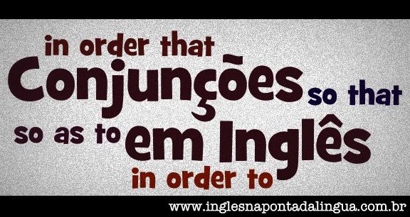 Conjunções em Inglês