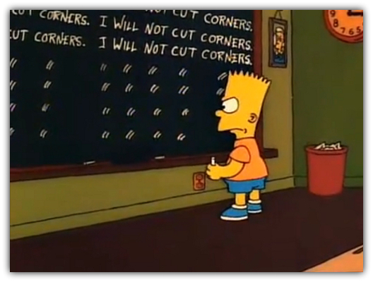 O que significa cut corners