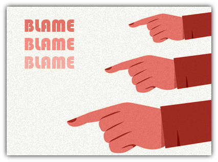 diferença entre blame e fault