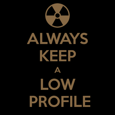 O que significa KEEP A LOW PROFILE?