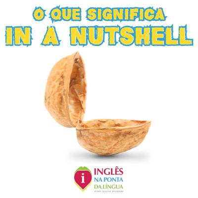 O que significa IN A NUTSHELL?
