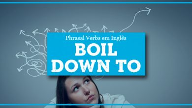 O que significa BOIL DOWN TO?
