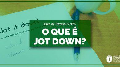 O que significa JOT DOWN
